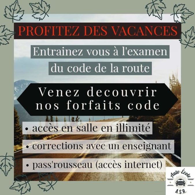 Profitez des vacances de la Toussaint pour faire du code de la route !